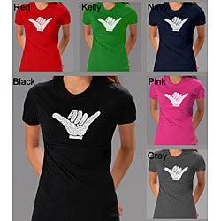 Los Angeles Pop Art Women's 'Hang Loose' T-shirt