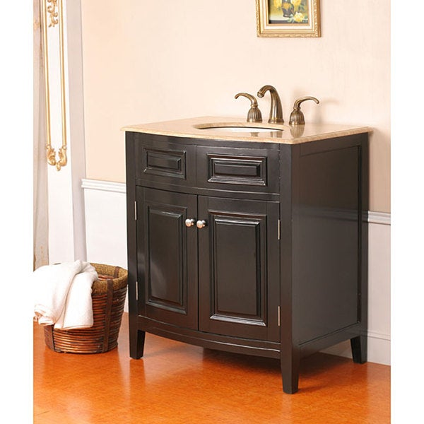 Shop sevante 32 inch single sink bathroom vanity black - 66 inch bathroom vanity single sink ...