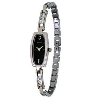 Bulova Women's 96T15 Stainless Steel Crystal Watch