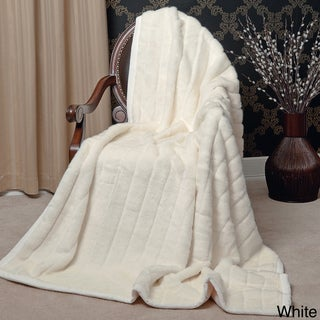Aurora Home Mink Faux Fur Throw