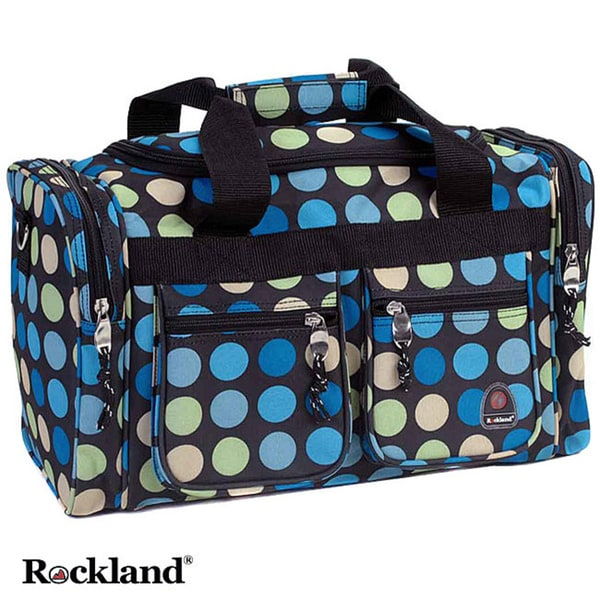 310d100ac2ae Rockland Bel-Air Mulit Blue Dot 19-inch Carry-On Tote / Duffel Bag
