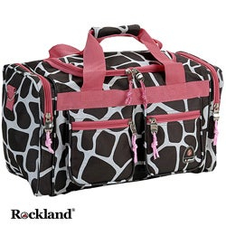 Rockland Deluxe Pink Giraffe 19-inch Carry-On Tote / Duffel Bag
