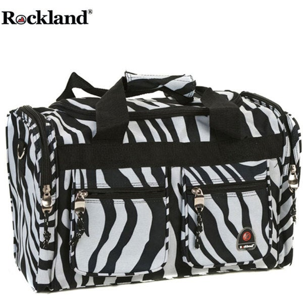 Rockland Bel-Air Zebra 19-inch Carry-On Tote / Duffel Bag