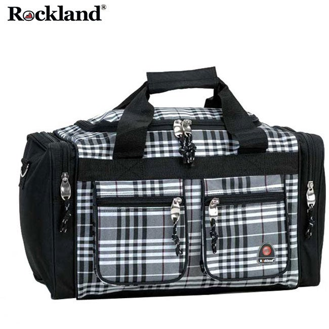 Rockland Bel-Air Black Cross 19-inch Carry-On Tote / Duffel Bag - Thumbnail 0