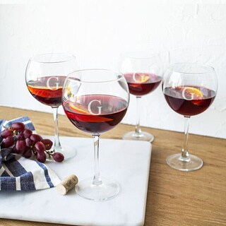 Personalized Red Wine Glasses (Set of 4) (Option: Red Wine Glasses)