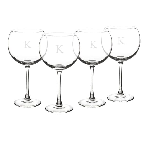 Cathy's Concepts Personalized Red Wine Glasses (Set of 4)...
