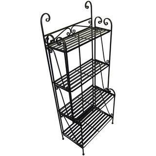 Folding Piper Black 4-shelf Baker's Rack|https://ak1.ostkcdn.com/images/products/3872791/P11922050.jpg?impolicy=medium