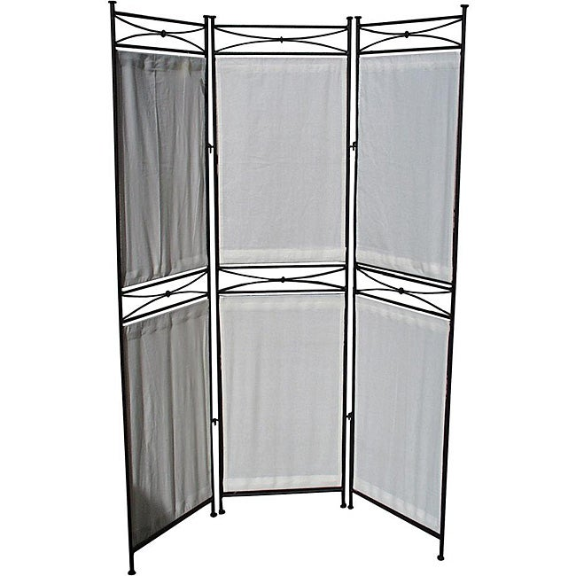 Pangaea Home & Garden Iron/ Canvas Black Six-panel Room D...