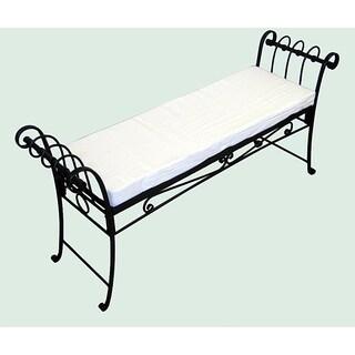 Black Scroll-pattern Garden Bench
