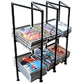 Black Wrought Iron 3-section CD Holder
