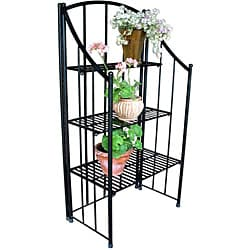 Black Folding Baker's Planter Rack - Thumbnail 1