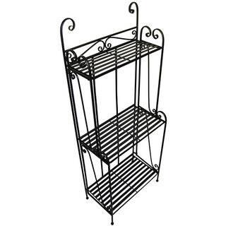 Folding Piper Black Three-shelf Baker's Rack|https://ak1.ostkcdn.com/images/products/3872851/P11922105.jpg?impolicy=medium