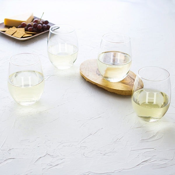 Personalized Stemless Wine Glasses (Set of 4). Opens flyout.