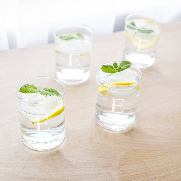 Personalized Low-Ball Drinking Glasses (Set of 4). Opens flyout.