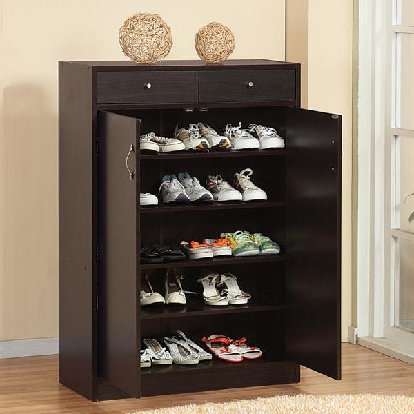 shoe furniture. furniture of america 5shelf shoe cabinet with 2 storage bins free shipping today overstockcom 11923225