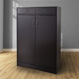Furniture of America 5-shelf Shoe Cabinet with 2 Storage Bins