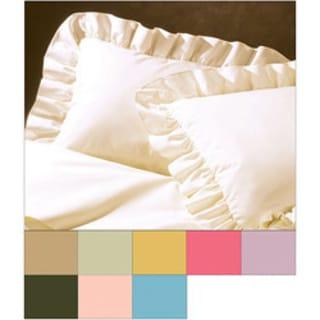Cotton Blend Poplin Ruffled Pillow Sham-2 Pack