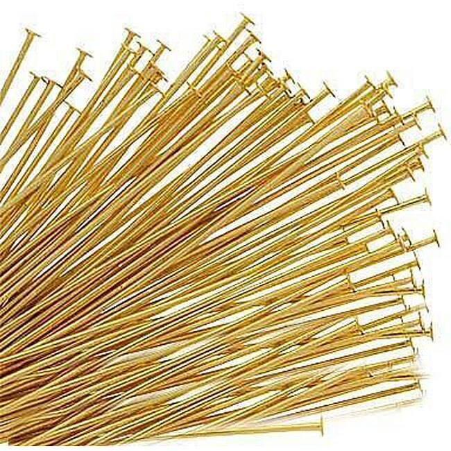 Beadaholique Goldplated 22-gauge Head Pins (Set of 100) - Thumbnail 0