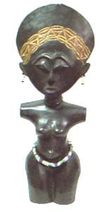 Handcarved Fertility Doll (Ghana)