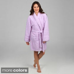 Aegean Apparel Women's Furry Robe (As Is Item)