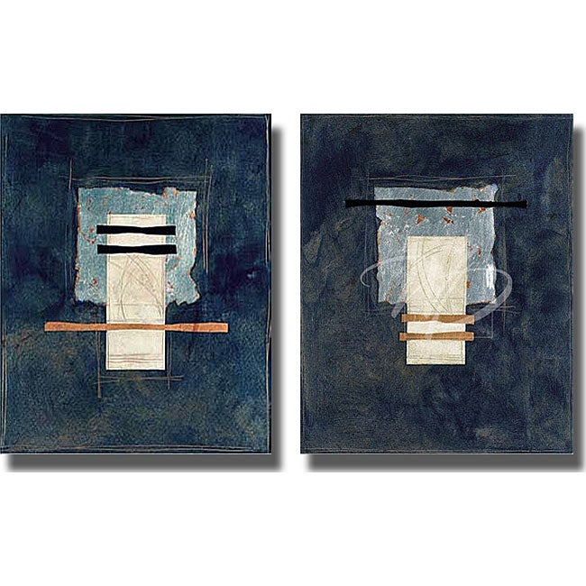 J. Strasenbugh 'Totem Azul' 2-piece Canvas Set