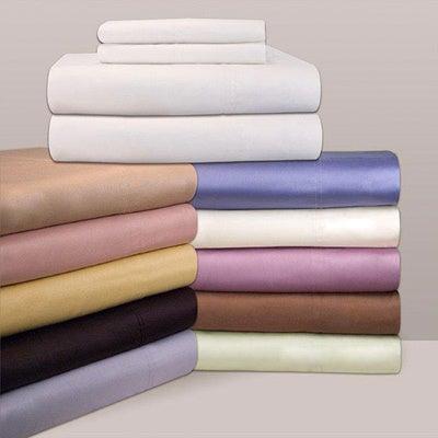 Egyptian Cotton Sateen 300 Thread Count Sheet Set (Twin -...