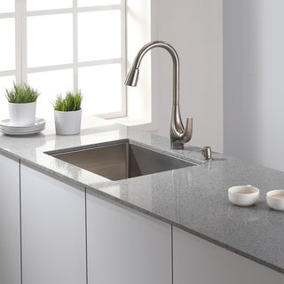 KRAUS Single-Handle High Arch Kitchen Faucet with Pull Down Dual-Function Sprayer