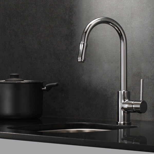 KRAUS Single-Handle Kitchen Faucet with Pull Down Dual-Function Sprayer in Chrome