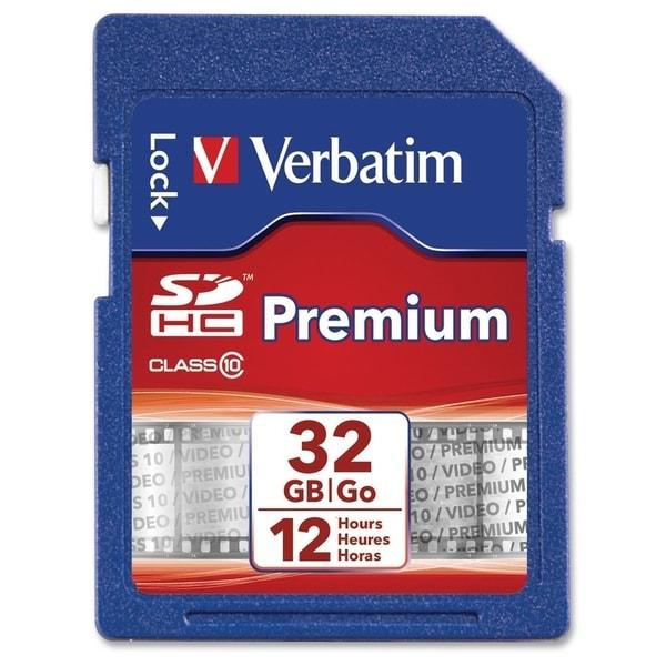 Verbatim 32GB Premium SDHC Memory Card, UHS-I Class 10