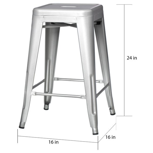 metal counter stools set white stool with back faux leather for sale