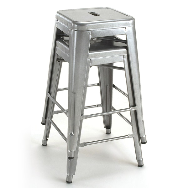 Tabouret 24-inch Metal Counter Stools (Set of 2) - Free Shipping Today - Overstock.com - 11927318  sc 1 st  Overstock & Tabouret 24-inch Metal Counter Stools (Set of 2) - Free Shipping ... islam-shia.org