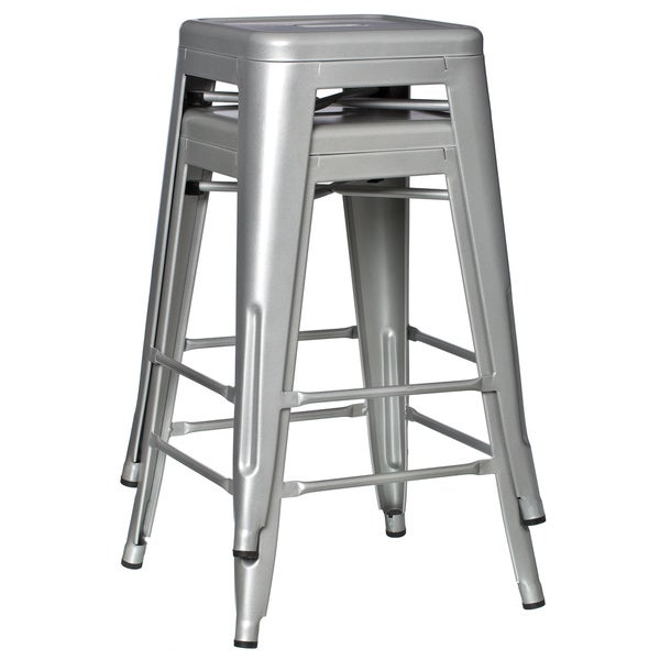 Tabouret 24-inch Metal Counter Stools (Set of 2) - Free Shipping Today - Overstock.com - 11927318  sc 1 st  Overstock.com & Tabouret 24-inch Metal Counter Stools (Set of 2) - Free Shipping ... islam-shia.org