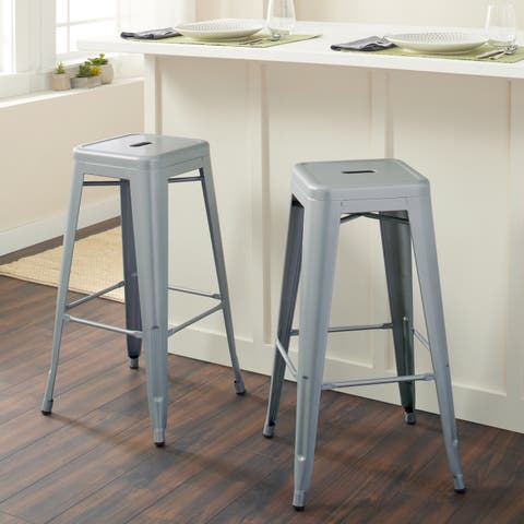 Tabouret 30-inch Metal Barstools (Set of 2)