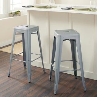 Shop Tabouret 30 Inch Metal Barstools Set Of 2 Free Shipping