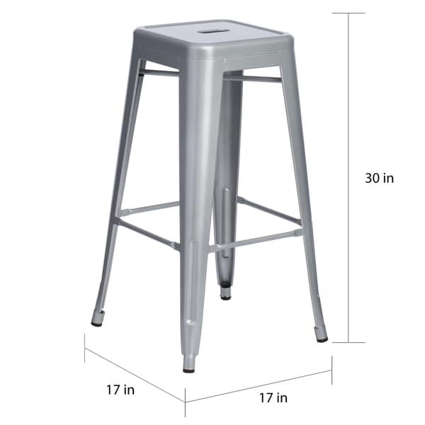 Tabouret 30-inch Metal Barstools (Set of 2) - Free Shipping Today - Overstock.com - 11927319  sc 1 st  Overstock.com & Tabouret 30-inch Metal Barstools (Set of 2) - Free Shipping Today ... islam-shia.org