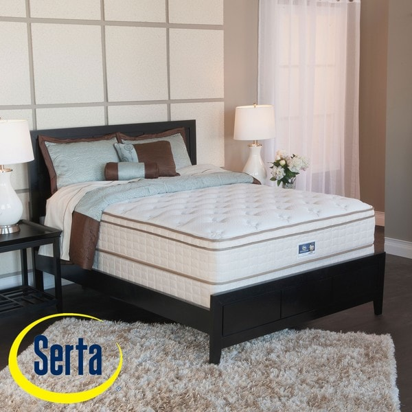 Shop Serta Bristol Way Euro Top King Size Mattress And Box