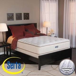 serta alleene plush twin size mattress and box spring set free shipping today. Black Bedroom Furniture Sets. Home Design Ideas