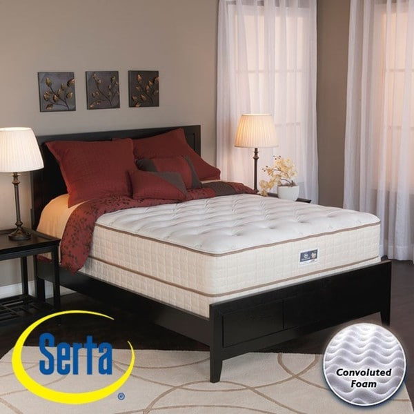 shop serta alleene plush queen size mattress and box spring set free shipping today. Black Bedroom Furniture Sets. Home Design Ideas