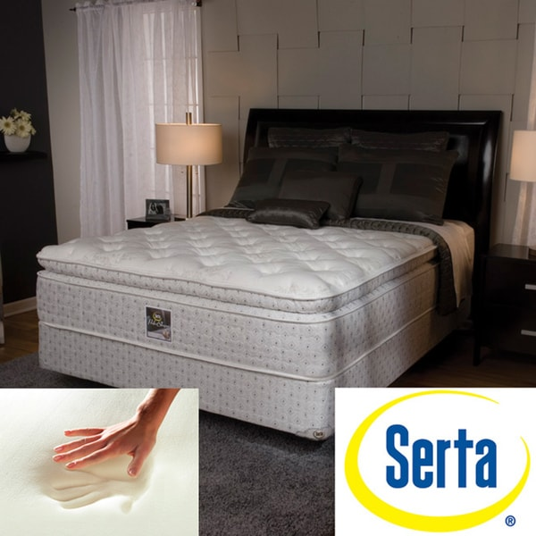 shop serta delphina pillow top california king size mattress and box spring set free shipping. Black Bedroom Furniture Sets. Home Design Ideas