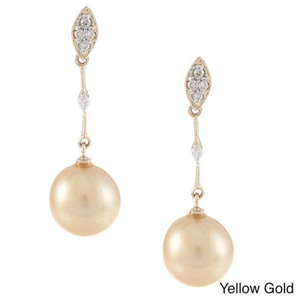 Kabella 14K Gold Dyed Southsea Pearl Earrings
