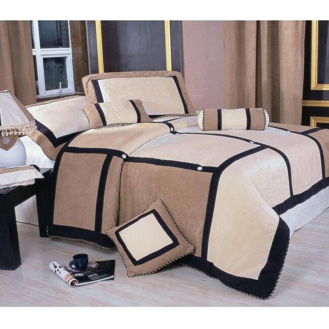 Merridia 7-piece Microsuede Comforter Set