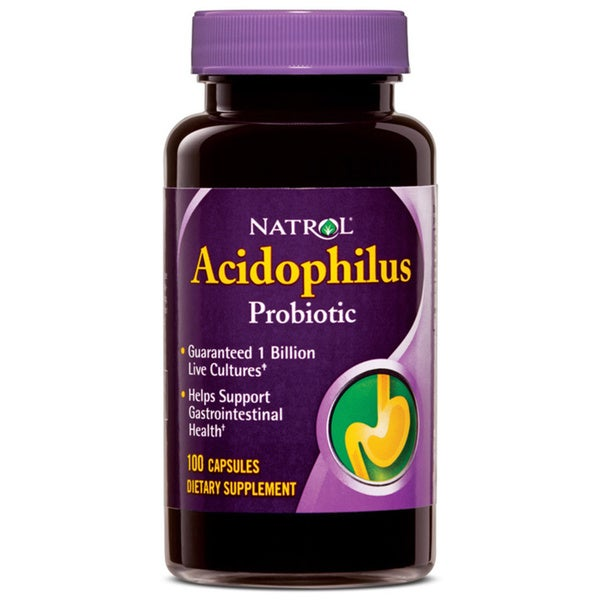 Natrol Acidophilus 100 mg Supplements (Pack of 4 100-count Bottles)