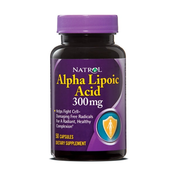Natrol Alpha Lipoic Acid 300mg Pills (Pack of 3 50-count Bottles)