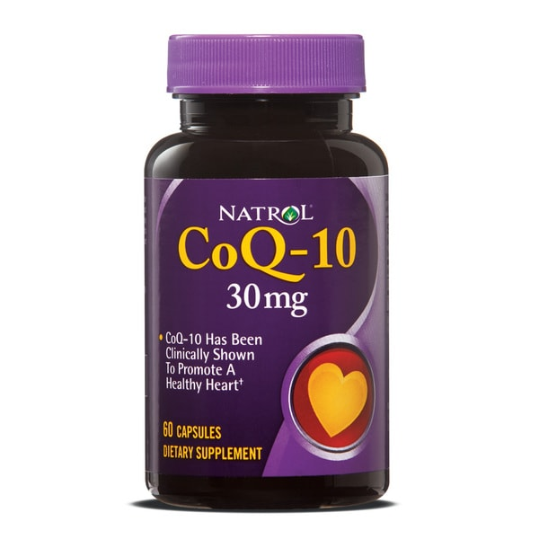 Natrol CoQ-10 30mg Capsules (Pack of 2 60-count Bottles)