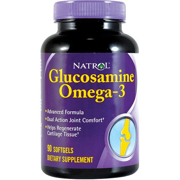 Natrol Glucosamine Omega-3 Pills (Pack of 2 90-count Bottles)