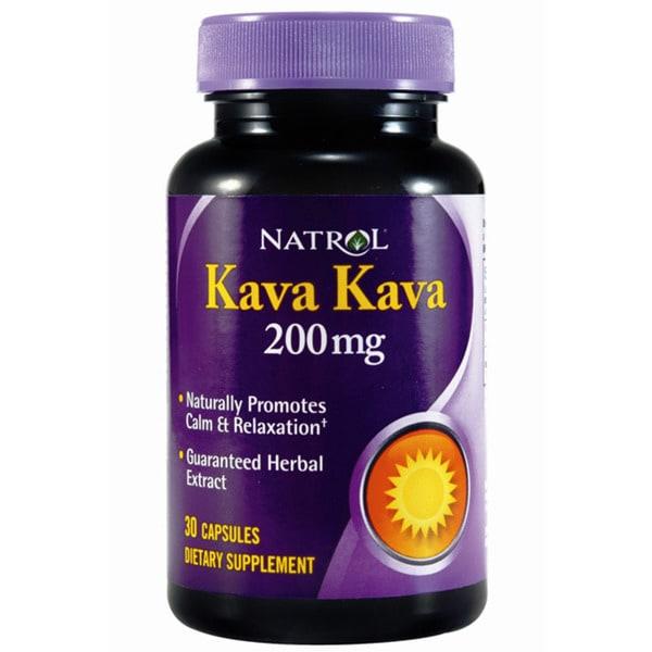Natrol Kava Kava 200mg Capsules (Pack of 4 30-count Bottles)