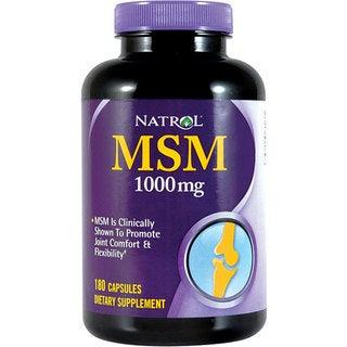 Natrol MSM 1000mg Pills (Pack of 2 180-count Bottles)