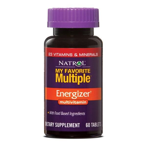 Natrol My Favorite Multiple Energizer Multivitamin (Pack of 3 60-count Bottles)