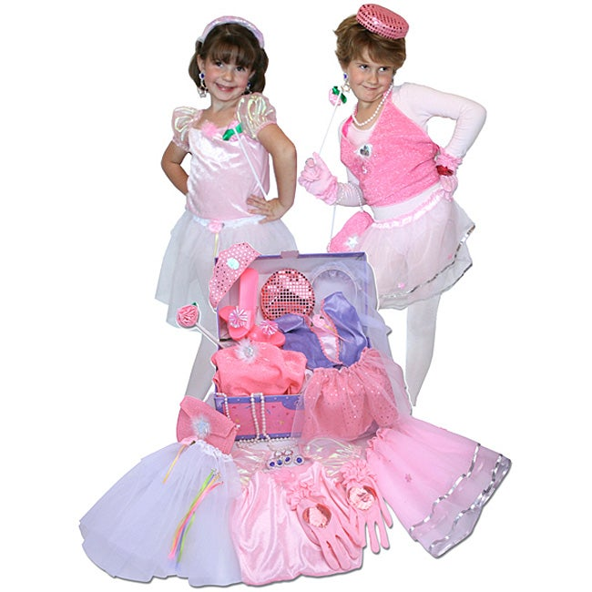Princess Glamour Dress Up Trunk Play Set Free Shipping