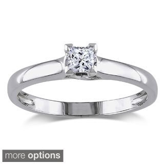 Miadora 14k Gold 1/4ct TDW IGL Certified Diamond Solitaire Engagement Ring